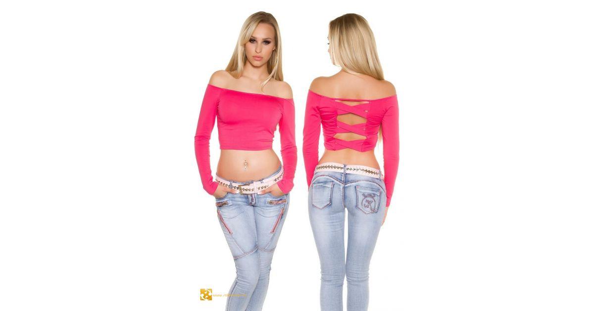 f9bcaeacd6 Hosszú ujjú felső szexi háttal 7 színben top felső nyitott háttal rövid  aljú fazonú top felső trendi csini csinos fiatalos hosszú aljú fazonú