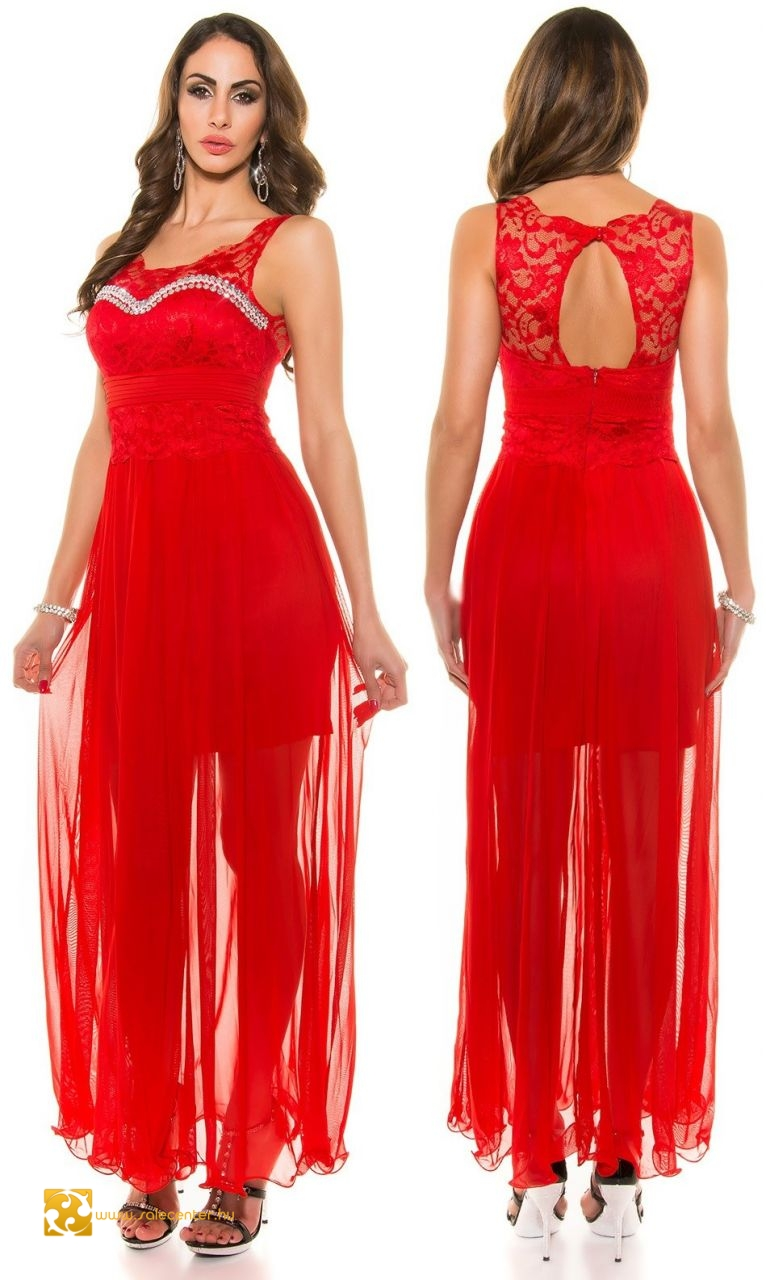 Alkalmi ruha csipke felsőrésszel strasszokkal 3 színben (S 144e007f20