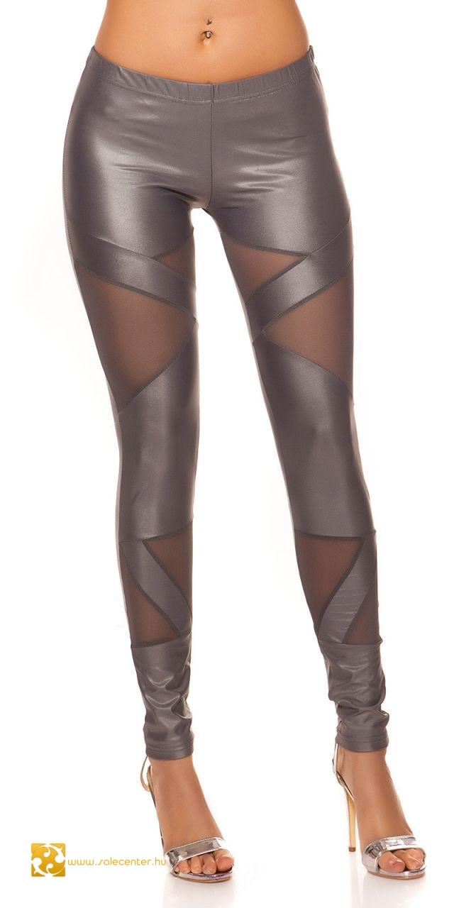 Fényes anyagú netsz betétes leggings 3 színben (S-M,M-L)