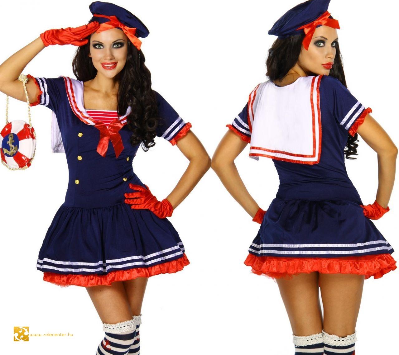 Matróz kosztüm felnőtt női jelmez matróz tengerész szexi dögös ... 0e3acc5683