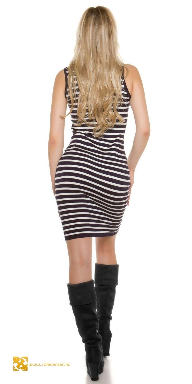 Csíkos kötött garbós ruha 4 színben ruha mini kötött mini garbós ... 2a95e59d23