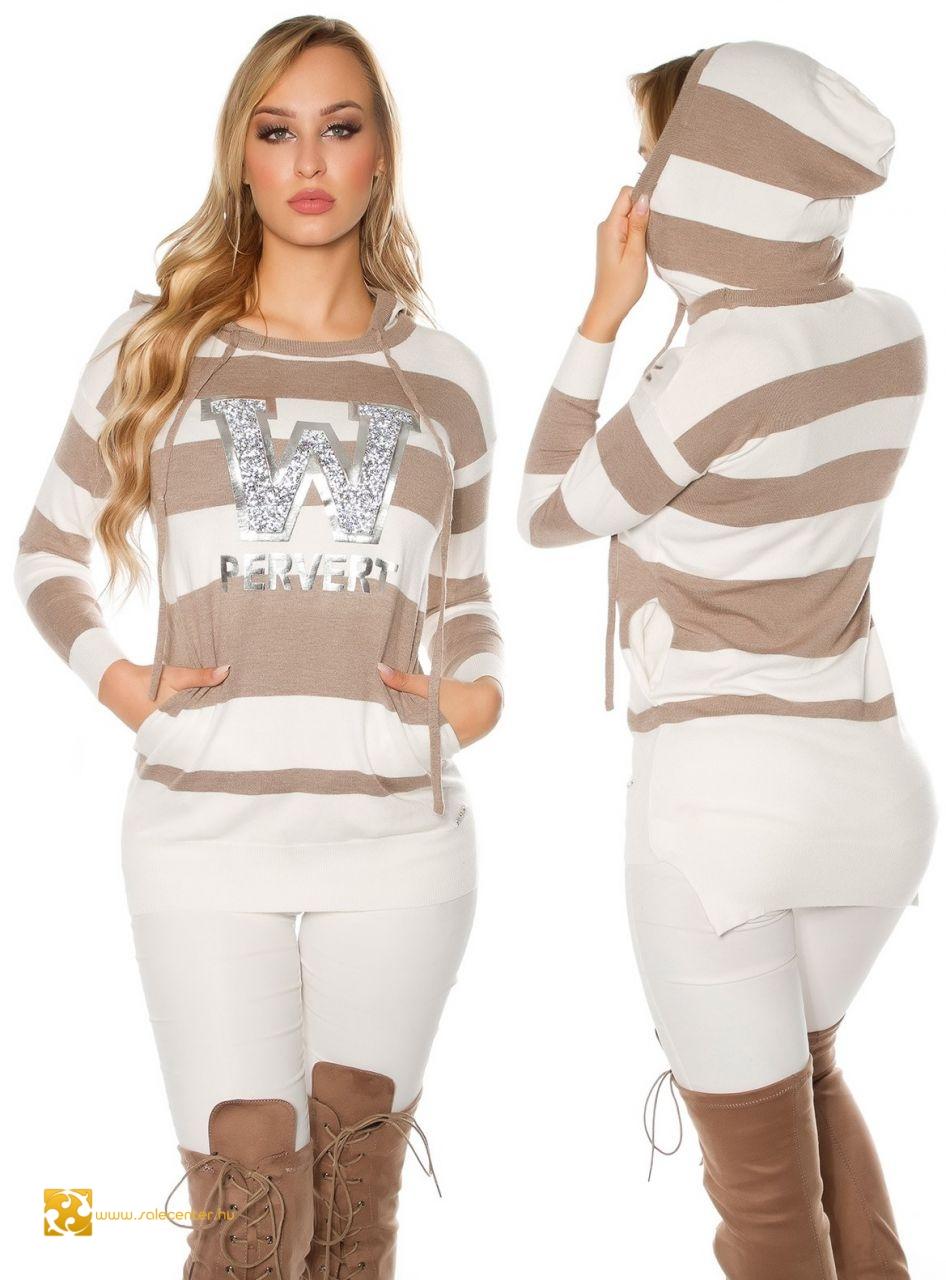 Női sportos kapucnis pulover 6 divatos színben szexis és trendi ... d8f674392c