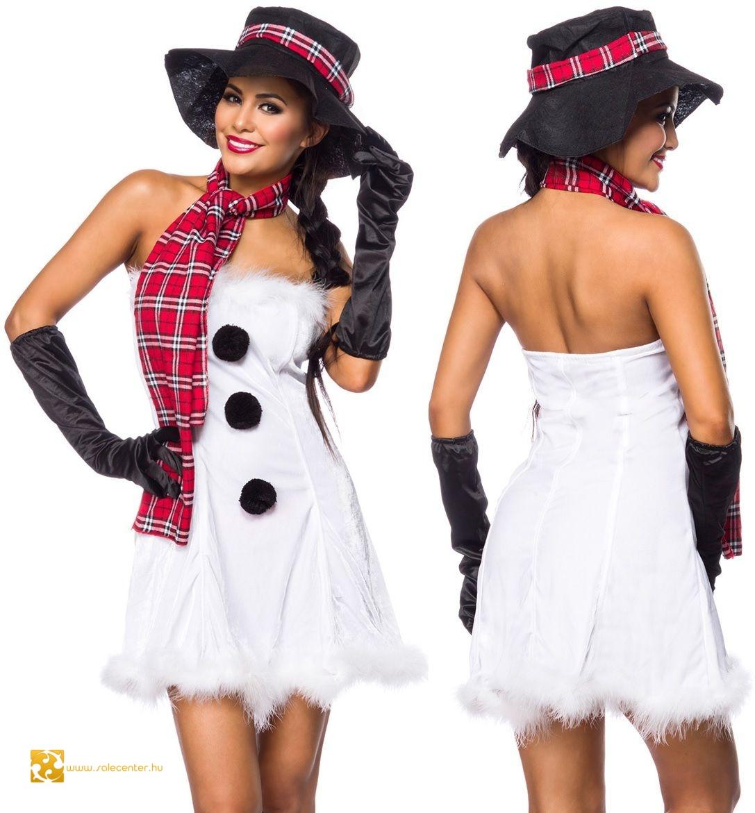 Szexi hóember jelmez karácsonyi mikulás ruha együttes jelmez kosztüm ... f19a4fbd42