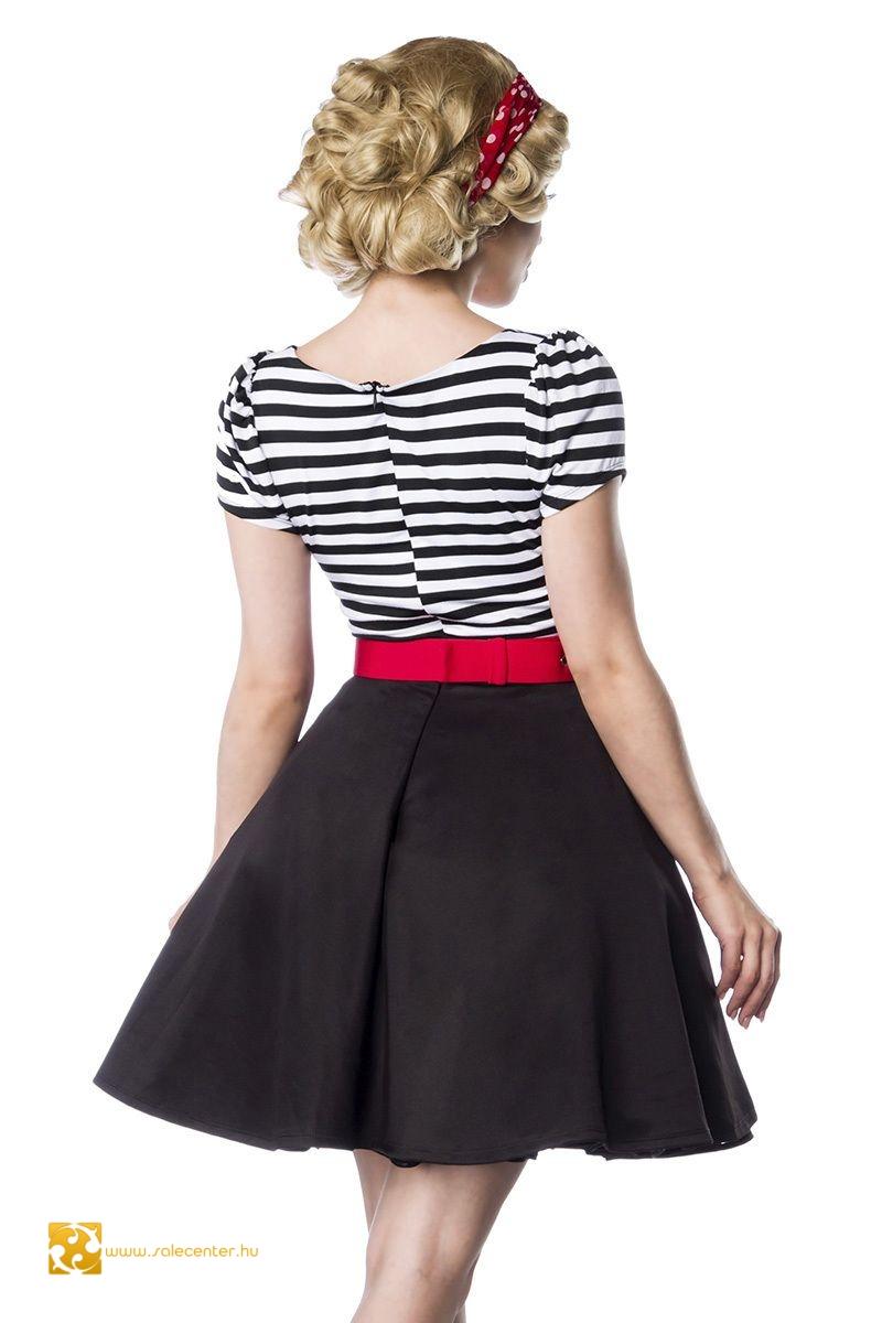 Vintage stílusú ruha 2 színben (S,M,L,XL,2XL,3XL)