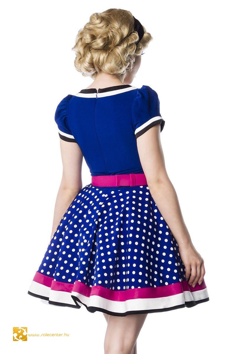 Vintage ruha pöttyös aljjal 2 színben (S,M,L,XL,2XL,3XL)