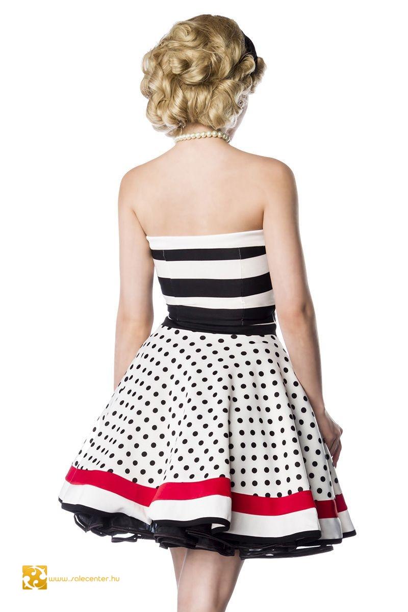 Pánt nélküli Vintage ruha (S,M,L,XL,2XL)