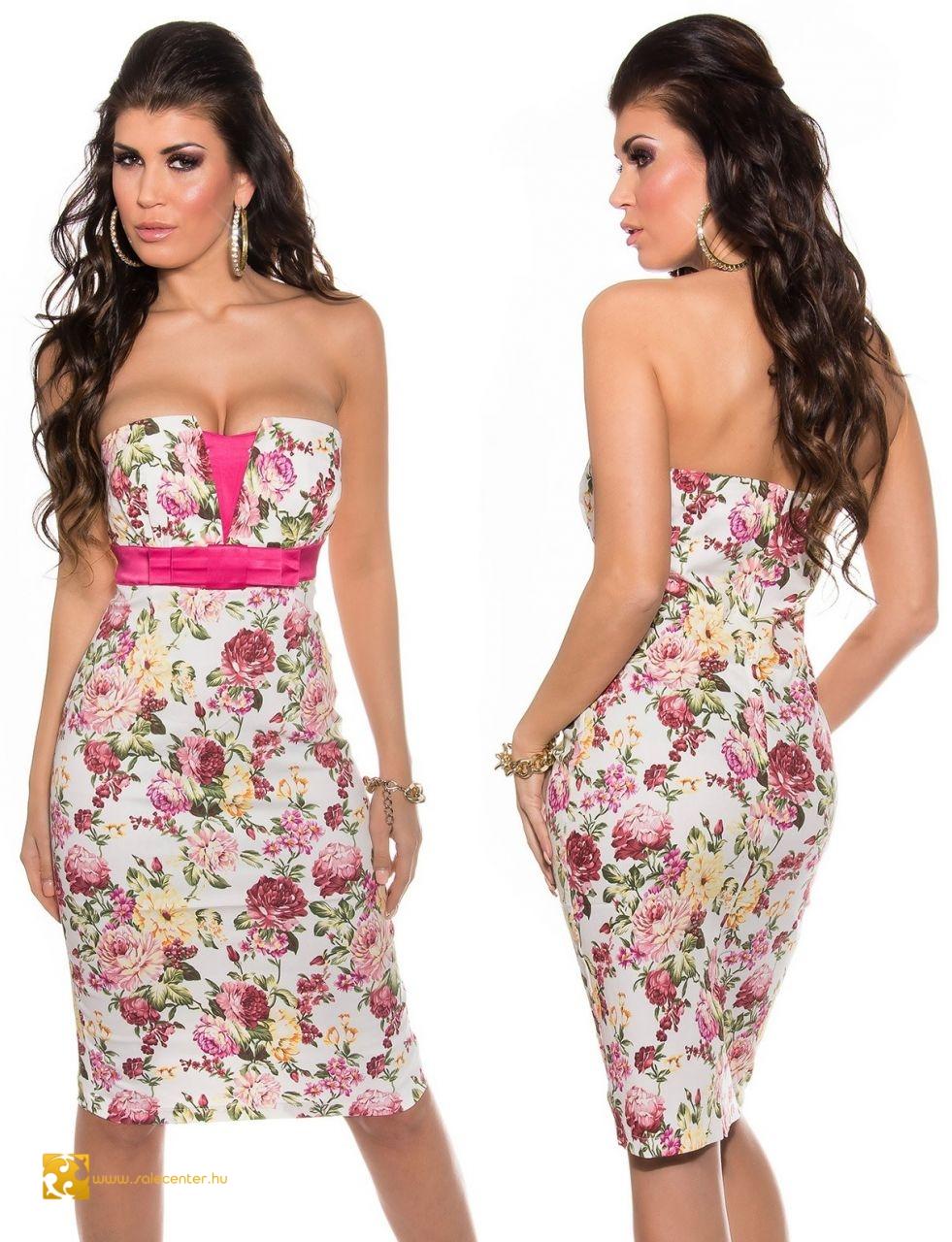 ee07de411e virág mintás ruha, virágos ruha, virágos alkalmi ruha ruha virág ...