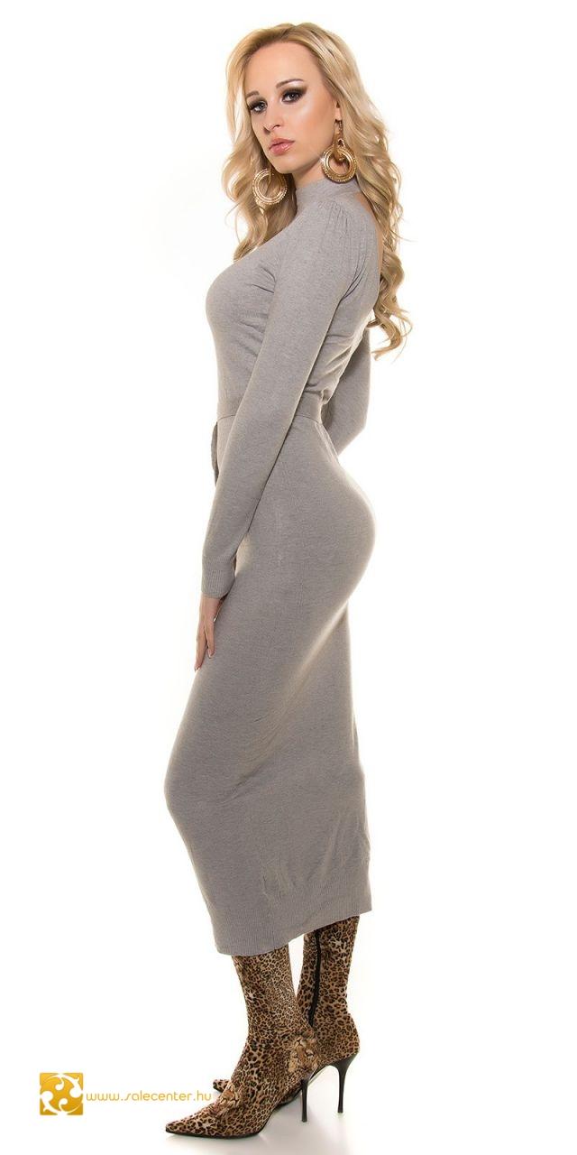 a5224482b4 Kötött hosszú maxi ruha hátán v kivágással 3 színben ruha maxi ...