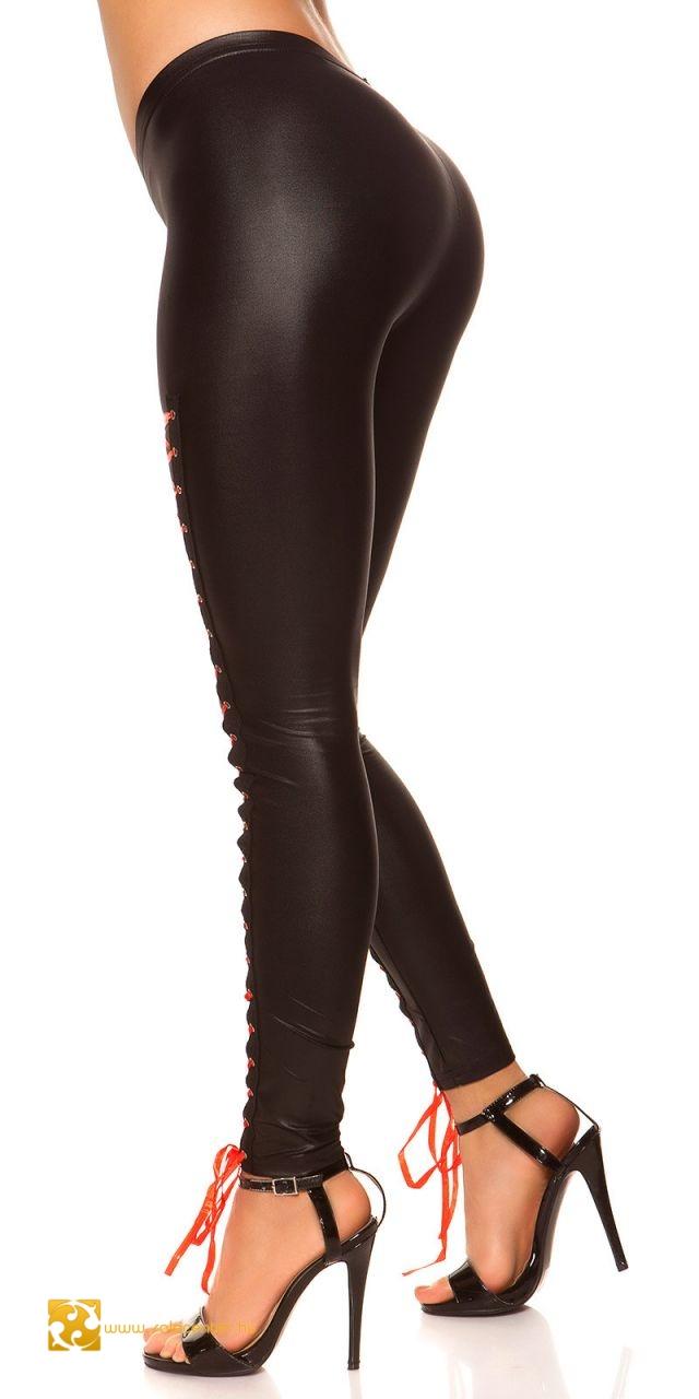 Elől fűzős dögös leggings 3 színben (S-M,L-XL)