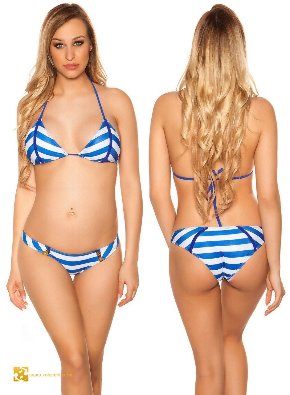 eedf2a941602 Matróz stílusú bikini gombokkal 7 színben (S,M,L) fürdőruha ...