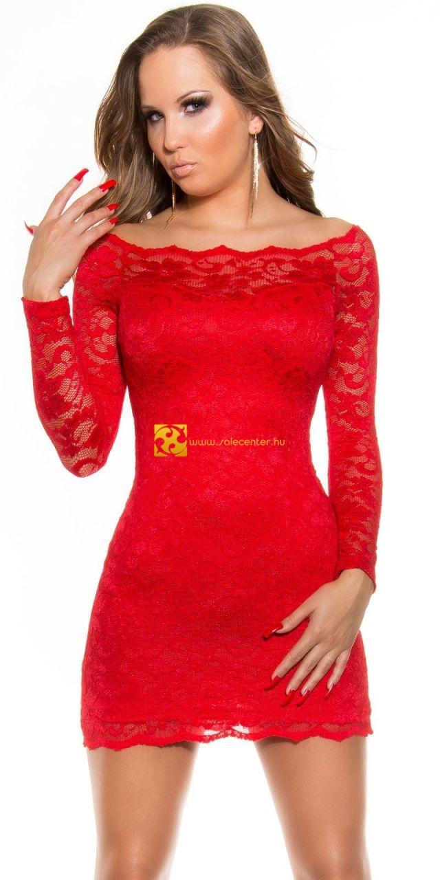 c34135f82c Ejtett vállú csipke ruha 5 színben (S,M,L,XL) csipkés ruha csipke ...