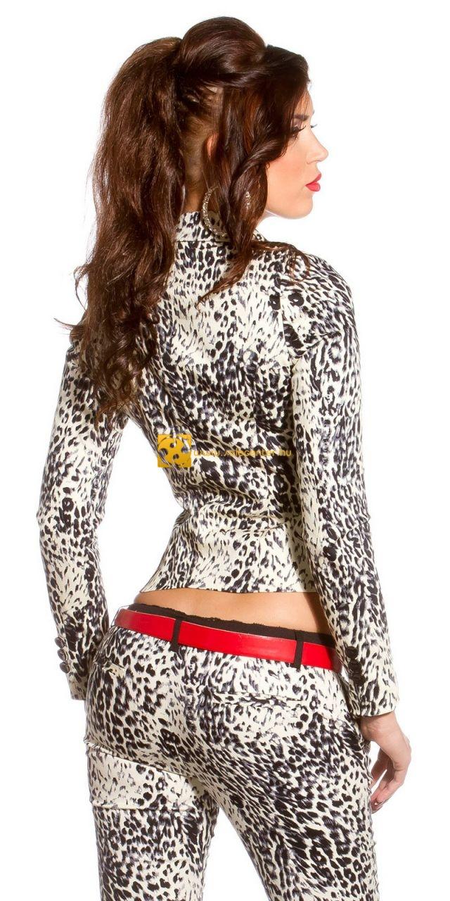 Dögös leopárd mintás blézer 2 színben
