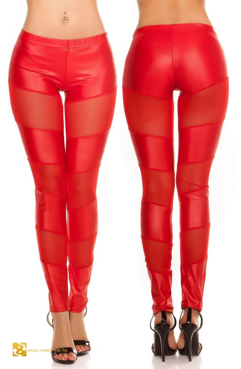 d61654b85b Fényes anyagú leggings áttetsző betétekkel 2 színben (S-M,M-L) ...