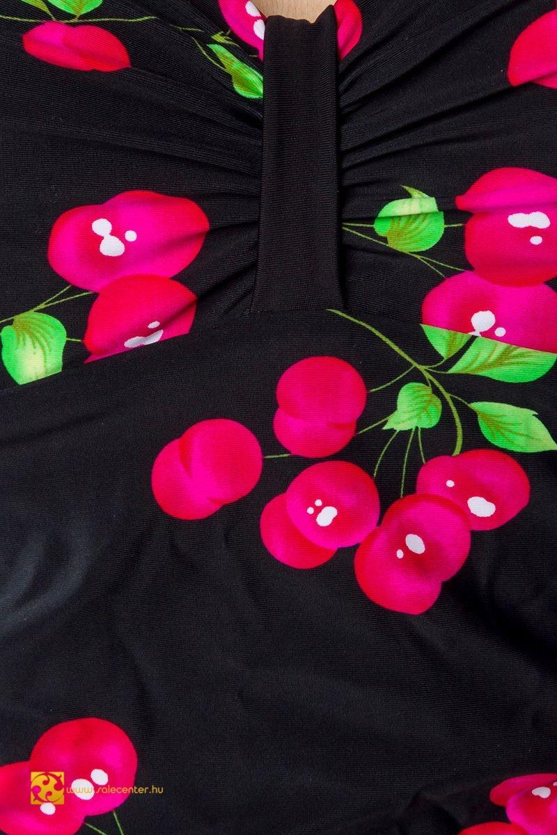 89d935873f Cseresznye mintás vintage fürdőruha (S,M,L,XL) bikini szexi dögös ...