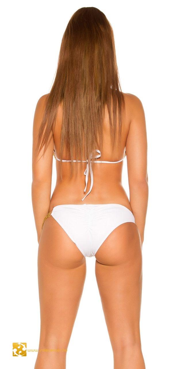 Gumis fenekű bikini lánc díszítéssel 4 színben (S,M,L,XL)