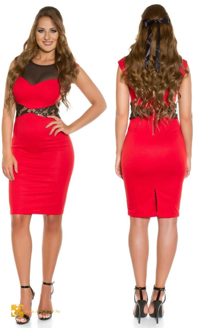 a24e69b8af Ujjatlan horgolt csipke díszítésű ruha 4 színben (S,M,L,XL) szoknya ...