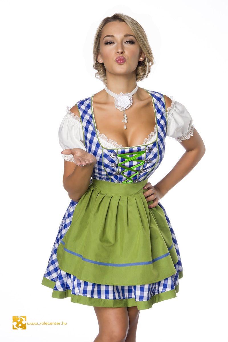 892698a5be Kockás bajor viselet / oktoberfest dirndl ruha 3 színben (XS,S,M,L ,XL,2XL,3XL)