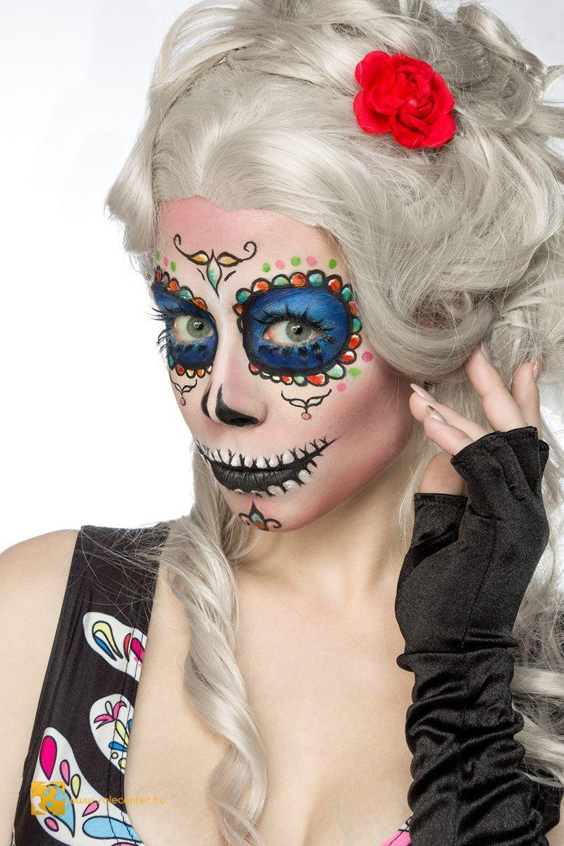 ba17eb8dc2 Mexikói csontváz jelmez kosztüm halloween farsang női ruha kosztüm ...
