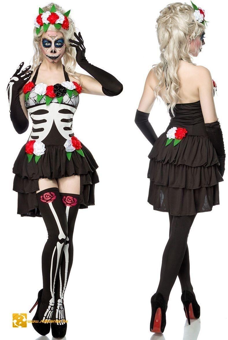 e953c753dc Mexikói csontváz jelmez kosztüm, női jelmez halloween ruha divatos ...