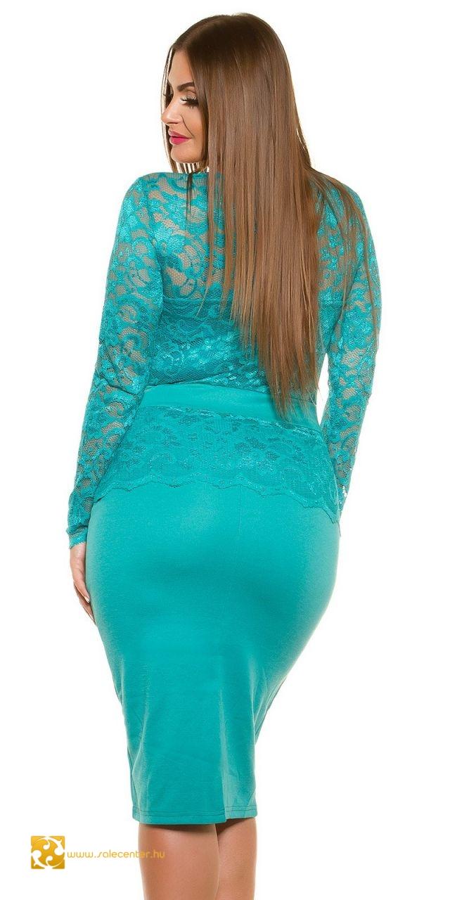 Csipkés Plus Size alkalmi ruha 6 színben (S,M,L,XL,2XL,3XL,4XL,5XL)