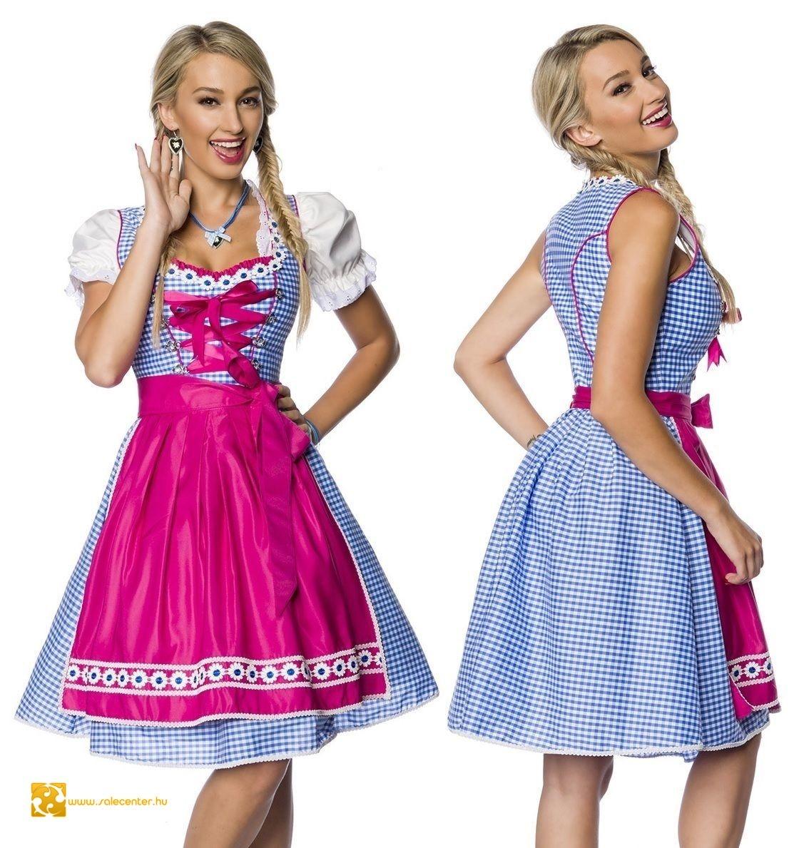 2240ba829a Kockás bajor ruha (XS,S,M,L,XL,2XL,3XL) jelmez kosztüm dirndl ruha ...