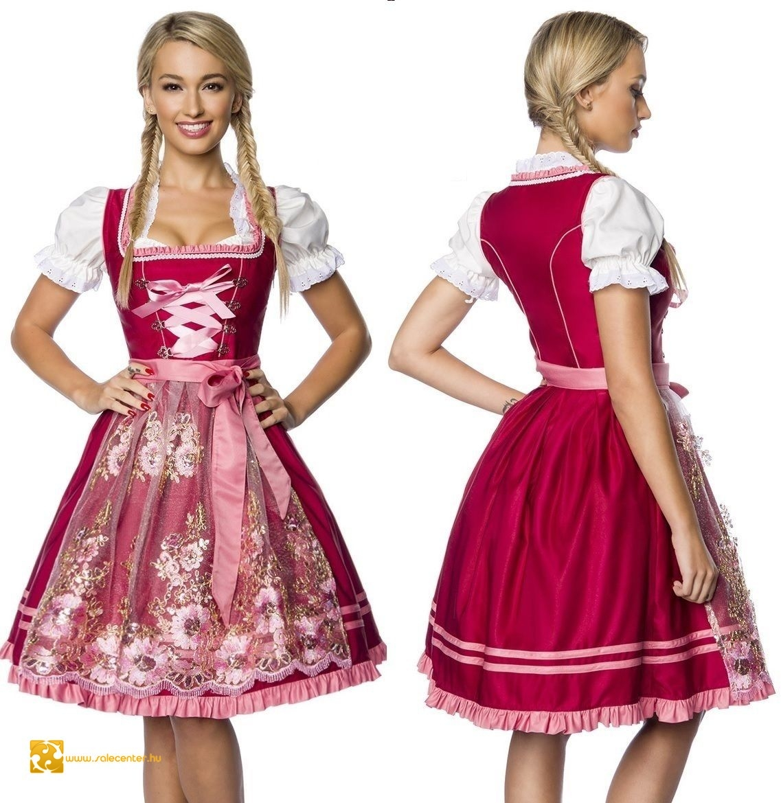 62b4780448 Virág mintás bajor ruha (XS,S,M,L,XL,2XL,3XL) ruha dirndl ...