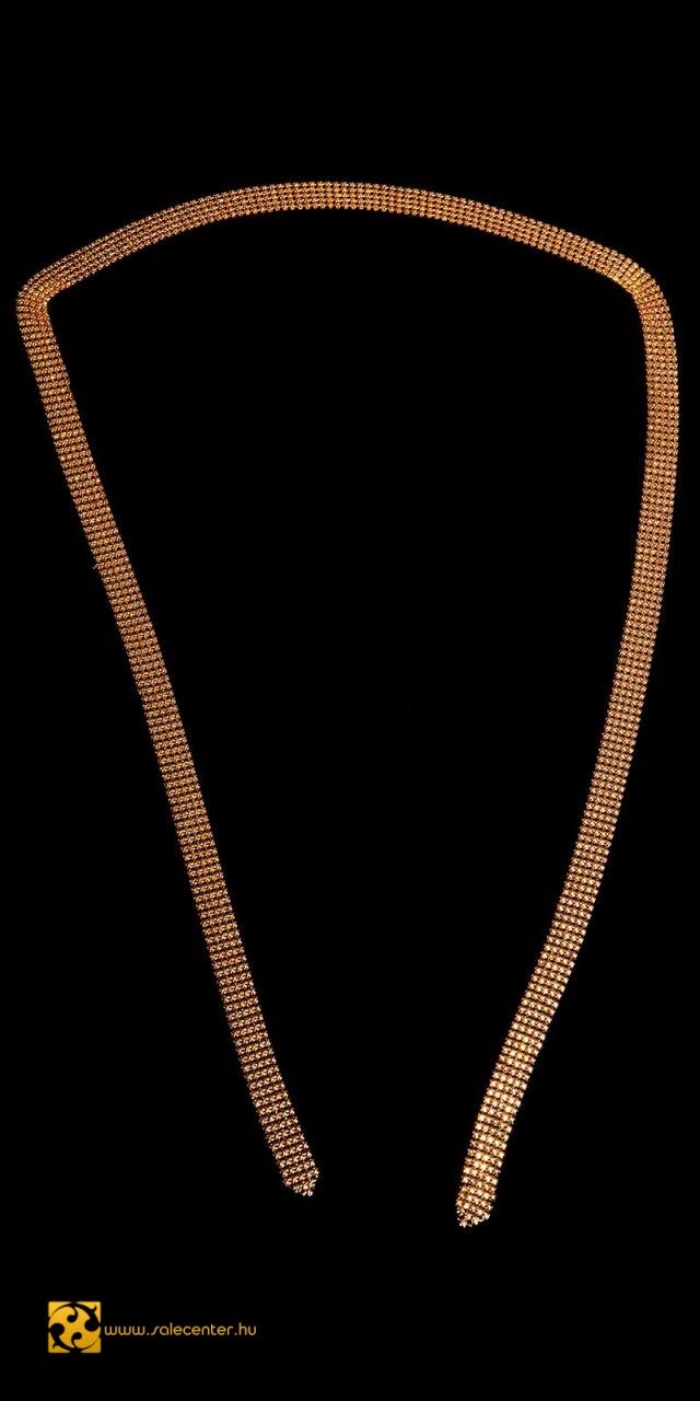 Variálva hordható strasszköves nyaklánc 2 színben