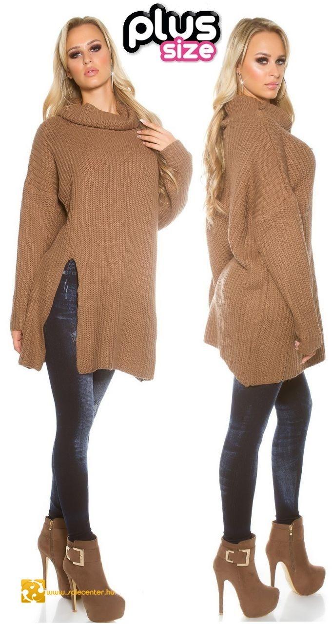 Vastag kötött bő fazonú pulóver 6 színben