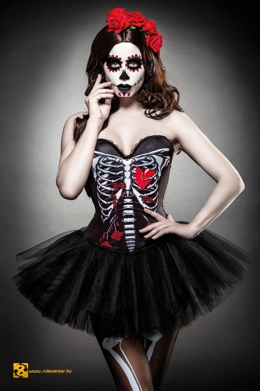 e371ea1941 Halott szenyorita jelmez (S,M,L,XL) csontváz hölgy nő zombie zombi ...