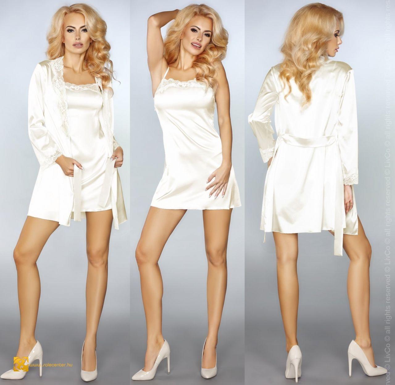 """LivCo """"Jacqueline"""" hálóing köntössel 4 színben (S-M,L-XL,2XL,3XL)"""