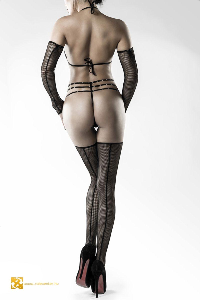 Grey Velvet body szett kesztyűvel combfixel