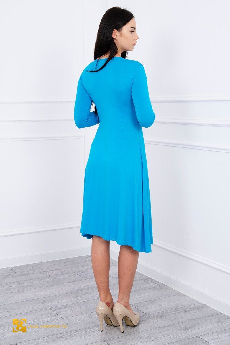 V kivágású ruha 19 színben (S-M,L-XL,2XL-3XL)