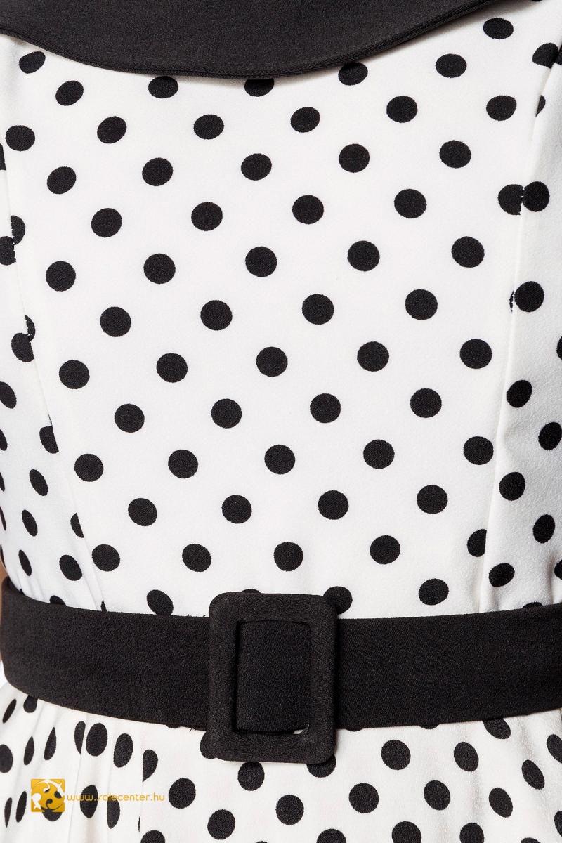 Pöttyös vintage ruha övvel (XS,S,M,L,XL,2XL,3XL)