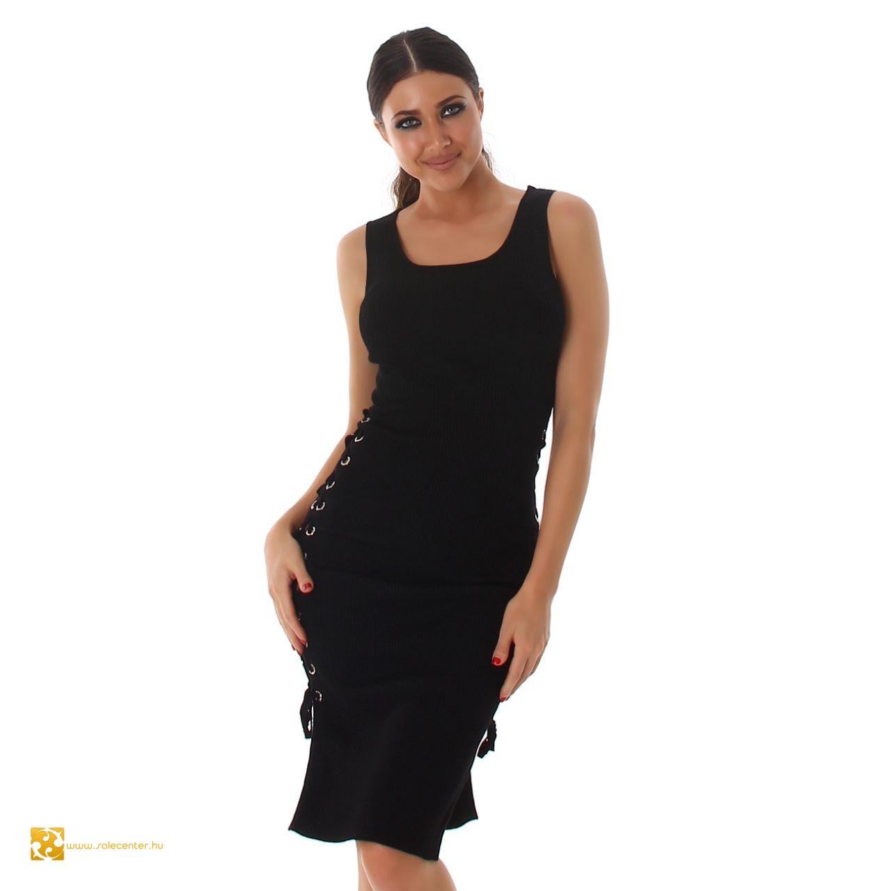 Térdig érő fazonú fűzős ruha 5 színben