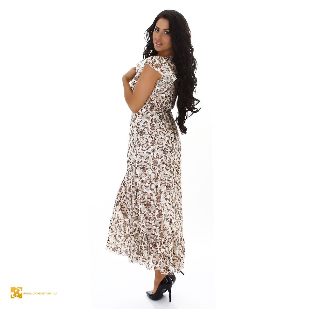 Inda mintás maxi ruha 2 színben