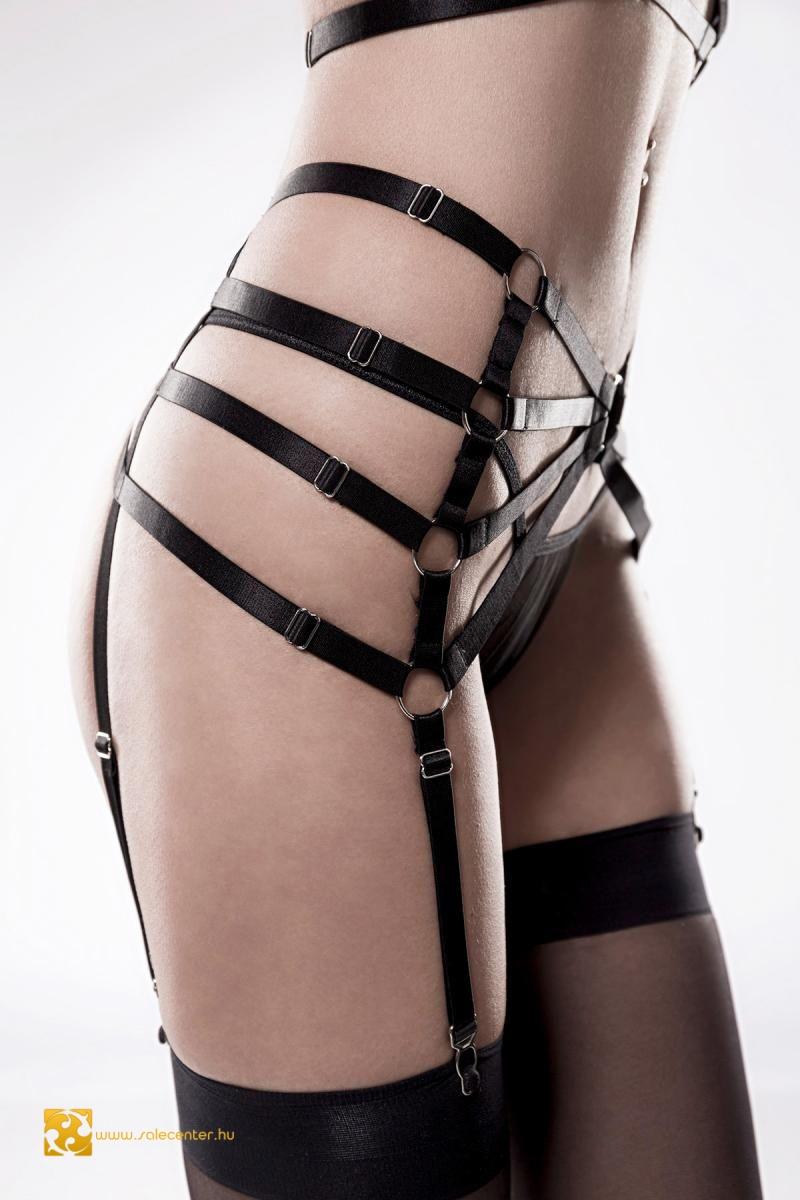 Grey Velvet pántos erotikus fehérnemű szett (XS-S,M-L,XL-2XL)