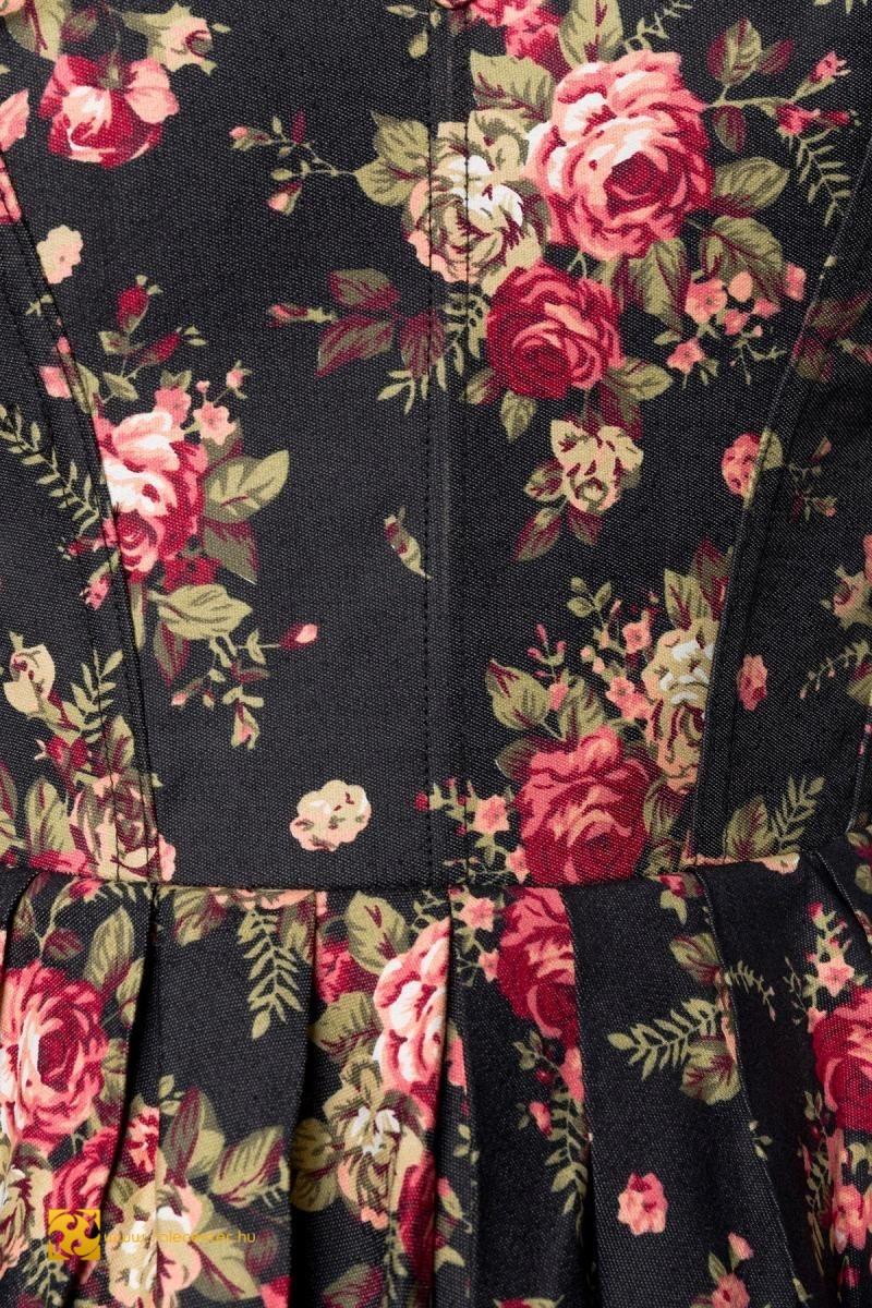 Virág mintás vintage ruha (XS,S,M,L,XL,2XL,3XL,4XL)