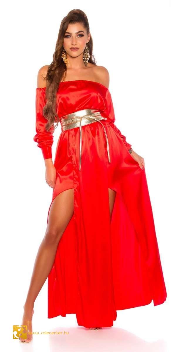 Szexi szatén hatású maxi ruha 7 színben