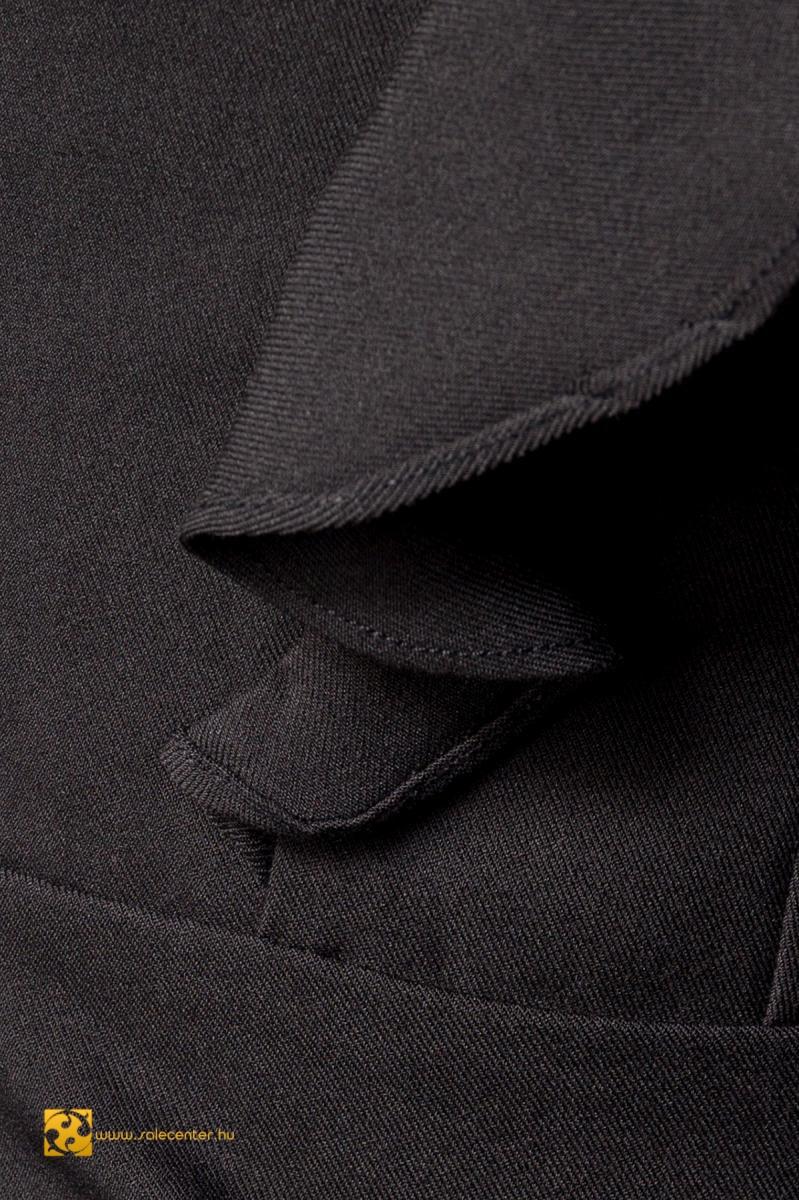 Elegáns fodros ujjú fekete Belsira ruha (S,M,L,XL,2XL,3XL)