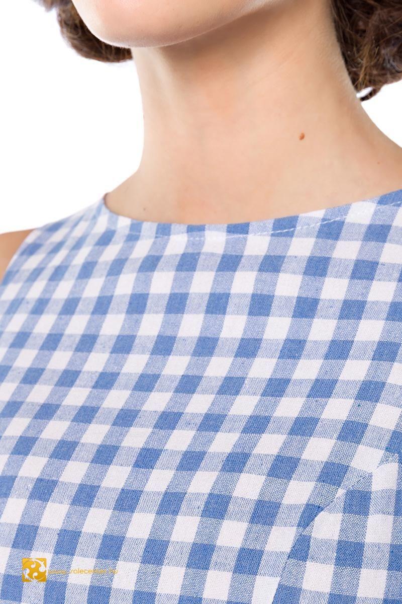 Ujjatlan kockás Belsira ruha 3 színben (XS,S,M,L,XL,2XL,3XL)
