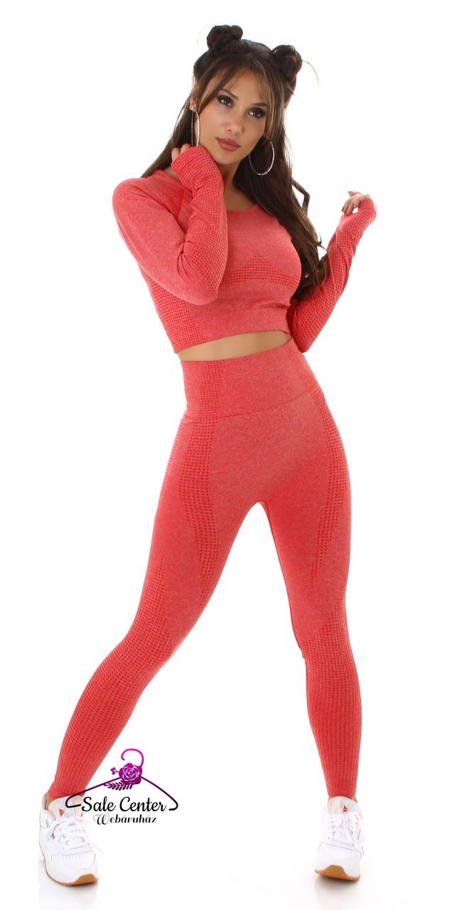 Elasztikus anyagú fitness együttes 6 színben