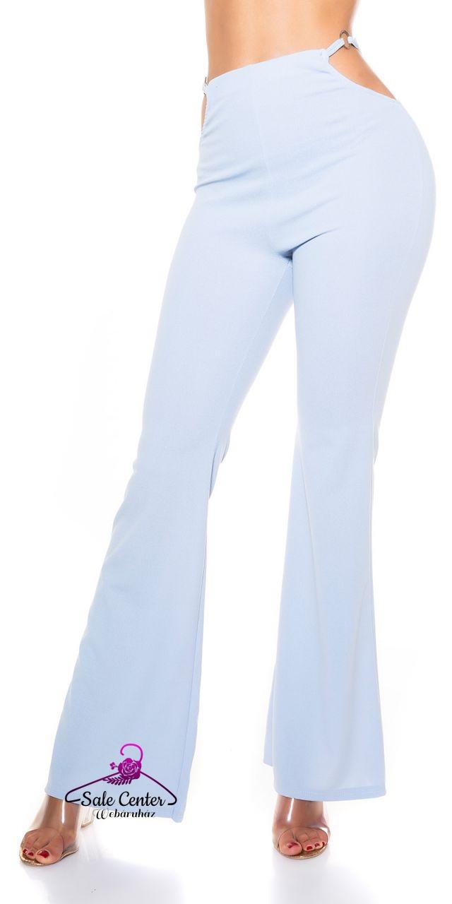 Magas derekú bő szárú nadrág nyitott csípő résszel 4 színben