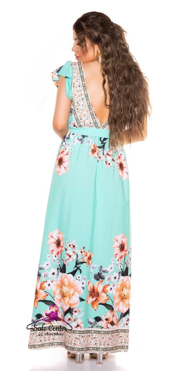 Fodros ujjú virág mintás maxi ruha 5 színben